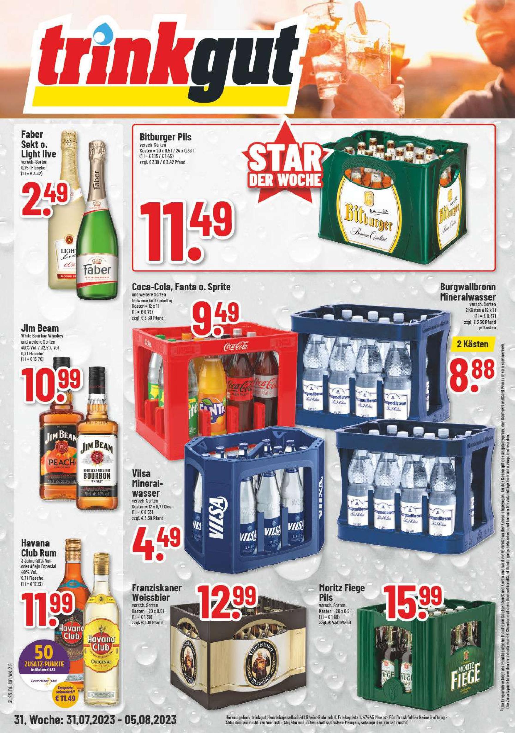 Angebote & Aktionen - trinkgut Getränkemarkt Dülmen Coesfeld Datteln